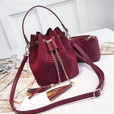 Bolsa Saco Camurça - 4 cores