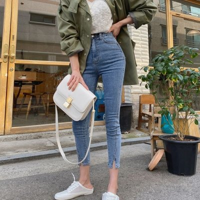 Calça Jeans Skinny Midi