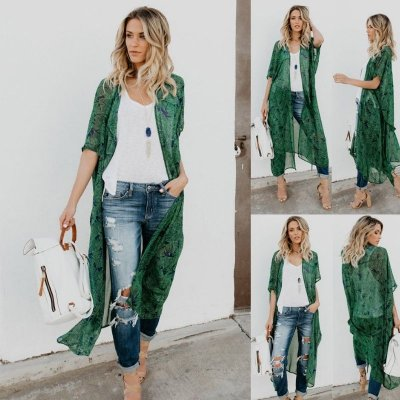 Kimono Longo Green