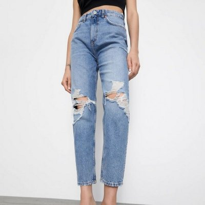 Calça Jeans Mom Knee