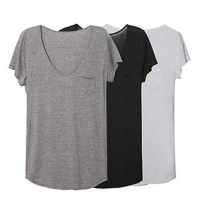 T-shirt Básica - 4 cores