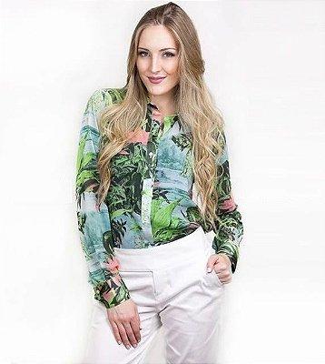 Camisa Estampa Tropical