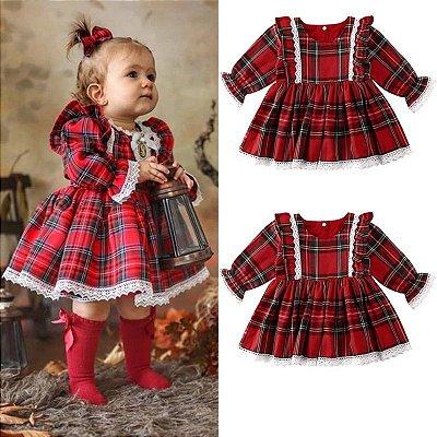 Vestido Xadrez Baby Girl
