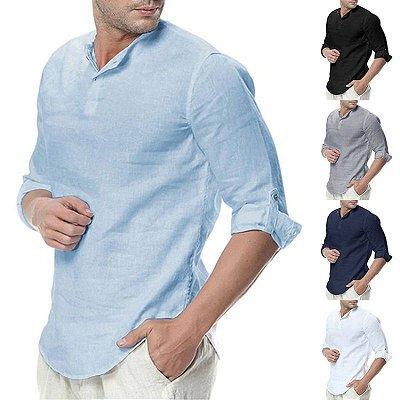 Camisa Casual Assimétrica - 5 cores