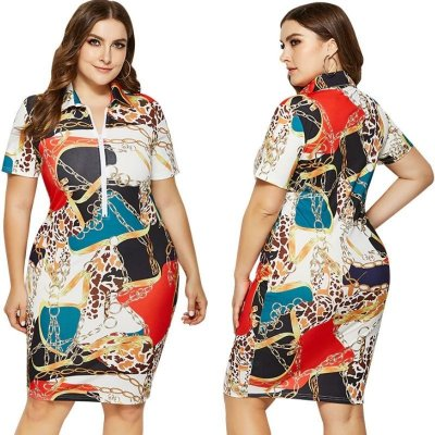 Vestido Chains Plus Size