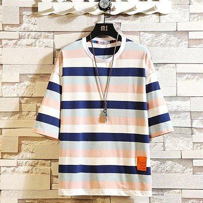 Camiseta Listras Colors - 3 cores