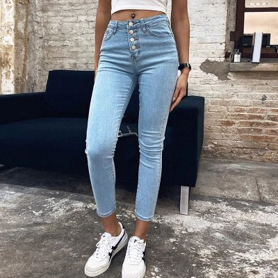 Calça Midi Jeans Cós Alto - 3 cores