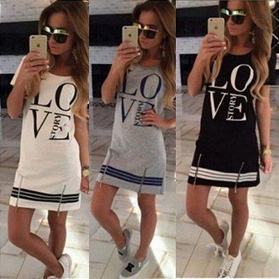 Vestido Love - 3 cores