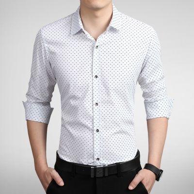 Camisa Masculina Estampa Discreta Branca