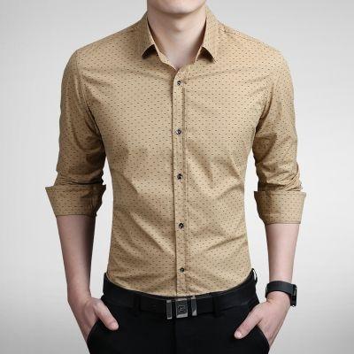 Camisa Masculina Estampa Discreta Bege