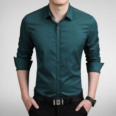 Camisa Masculina Estampa Discreta Verde