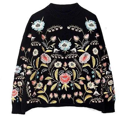 Suéter Bordado Floral