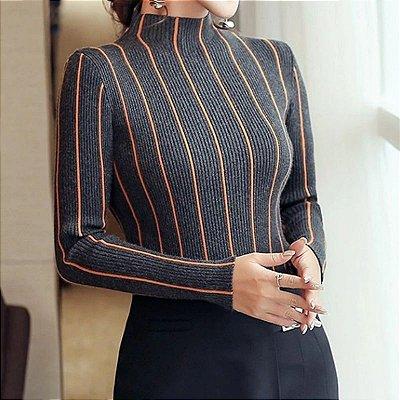 Blusa Listrada Sweater - 3 cores