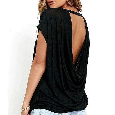 Blusa Decote Traseiro - 2 cores