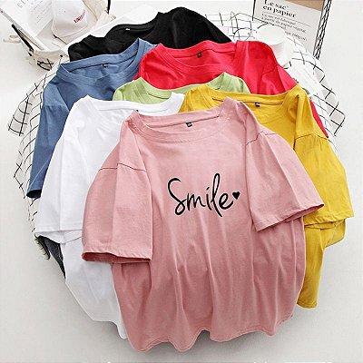 T-shirt Smile - 7 cores