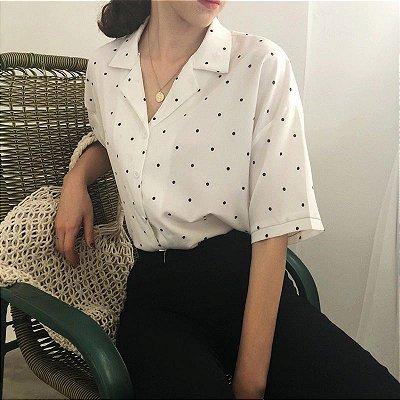 Camisa Manga Curta Poá - 3 cores
