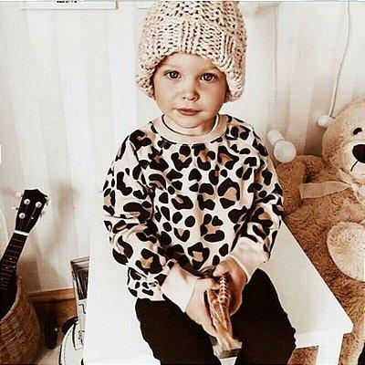 Moletom Leopardo Baby Girl