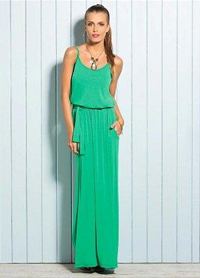 Vestido Longo com Alças Verde