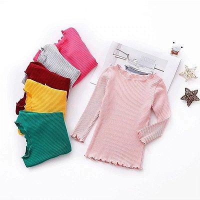 Blusa Canelada Kids - 5 cores