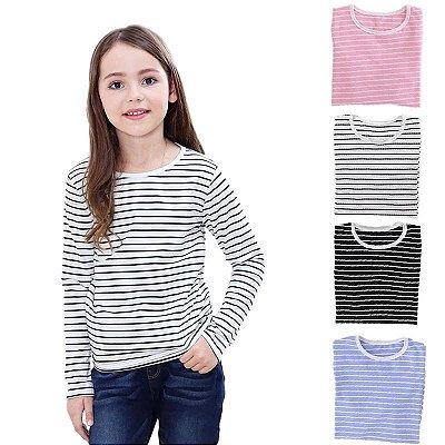Blusa Listrada Infantil - 4 cores