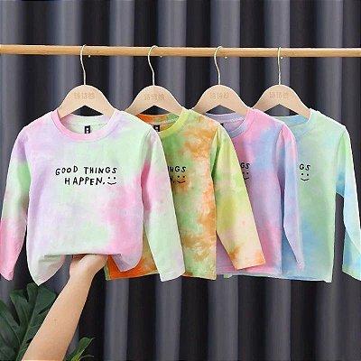 Blusa Infantil Tie Dye - 4 cores