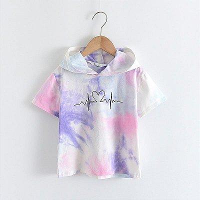 Blusa Capuz Tie Dye