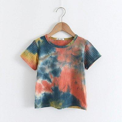 Blusa Canelada Tie Dye