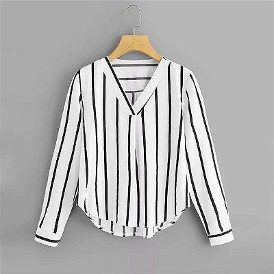 Camisa Feminina Listrada - 4 cores