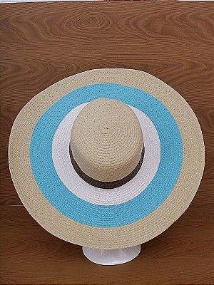 Chapéu Praia Listrado Azul