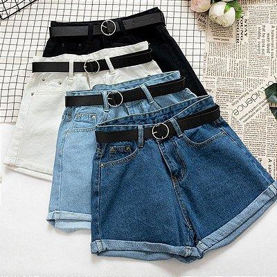 Short Jeans com Cinto - 5 cores