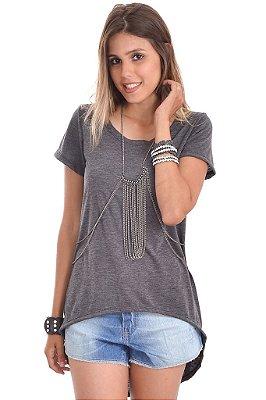T-shirt Mullet Cinza