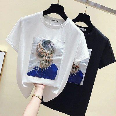 T-shirt Woman Flores - 2 cores