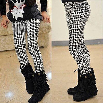 Calça Legging Infantil Black & White