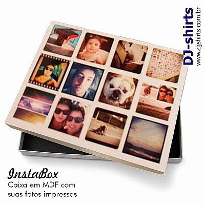 Insta-box - Caixa em mdf com fotos estampadas na tampa