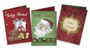 Cartão de Natal personalizado com fotos e mensagens