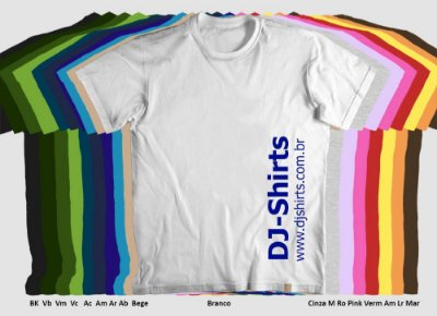 Camiseta Personalizada - Malha colorida 100% Algodão