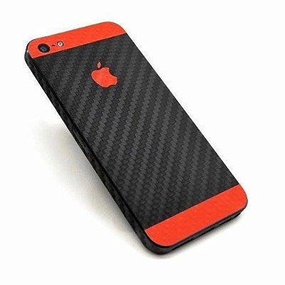 Skin Adesiva Fibra de Carbono - Iphone 5 / 5S / SE