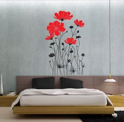 Adesivo de Parede - Rosas Vermelhas