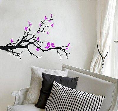 Adesivo de Parede - Árvore & Pássaros