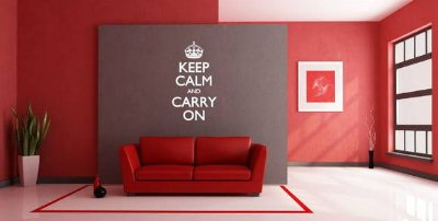 Adesivo de Parede - Keep Calm and Carry On