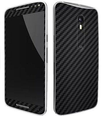 Skin Moto X Style - Fibra de Carbono