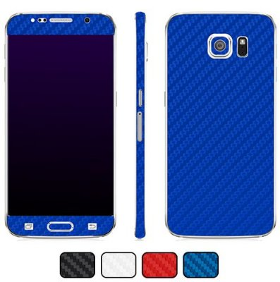Skin Galaxy S6 - Fibra de Carbono