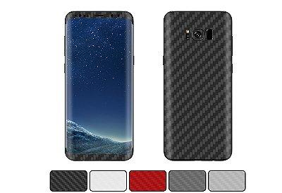 Skin Galaxy S8 - Fibra de Carbono