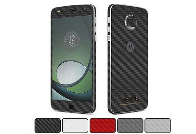 Skin Moto Z Play - Fibra de Carbono