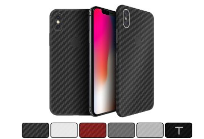 Skin iPhone X - Fibra de Carbono