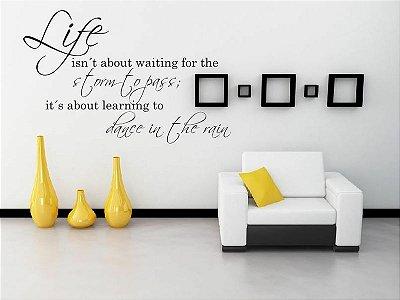 Adesivo de Parede - Frase Life