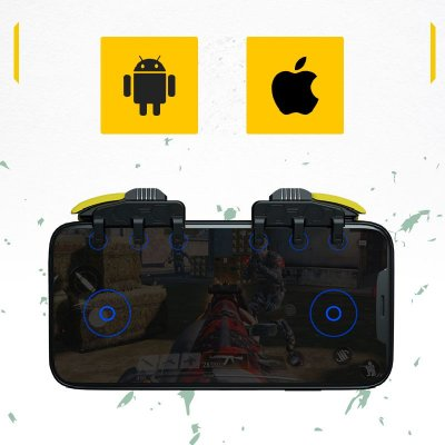 Gatilho Handjoy M03 L1-L2-L3 / R1-R2-R3 Com Autotap Inteligente Para Android / iOS (iPhone) / PUBG / COD / Free Fire