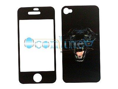 Adesivo Tigre 3D Holográfico Para iPhone 4/4S