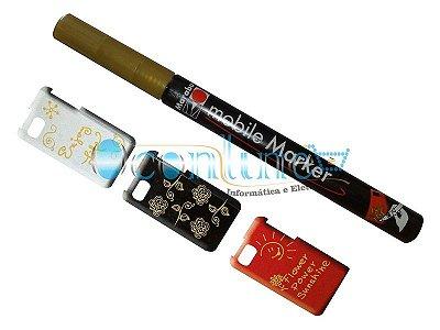 Marcador Marabu de Cases Para Smartphones - Dourado 084