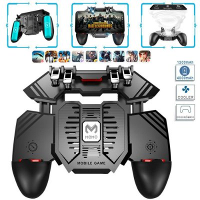 Controle Ak77 Com 4 Gatilhos L1 L2 / R1 R2 Com Cooler Bateria Android / iOS (iPhone) PUBG / Fortnite / Freefire / FPS